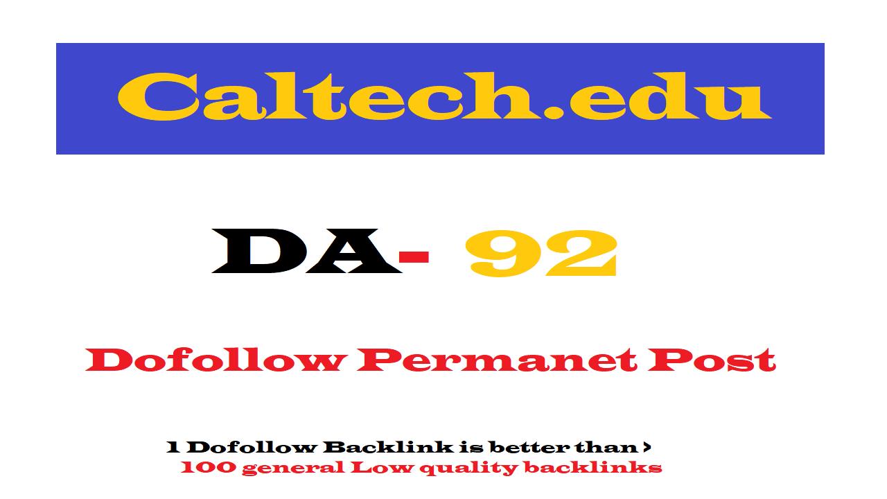 Permannet Guest Post On Caltech. edu DA92
