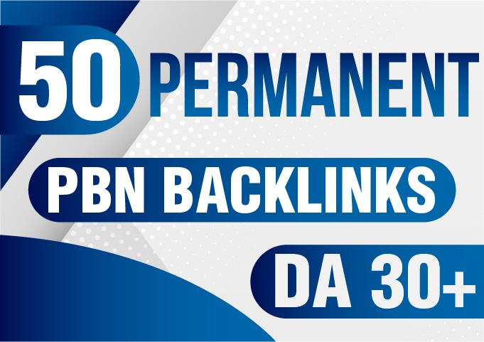 Get 50 DA PA 30+ Permanent Homepage PBN Backlinks Buy 2 Get 1 free