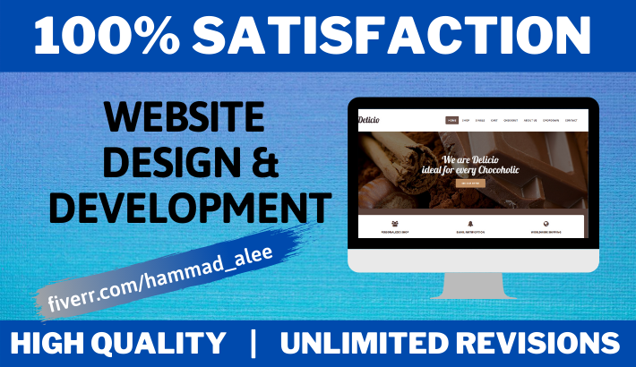 I will design and develop modern responsive WordPress website