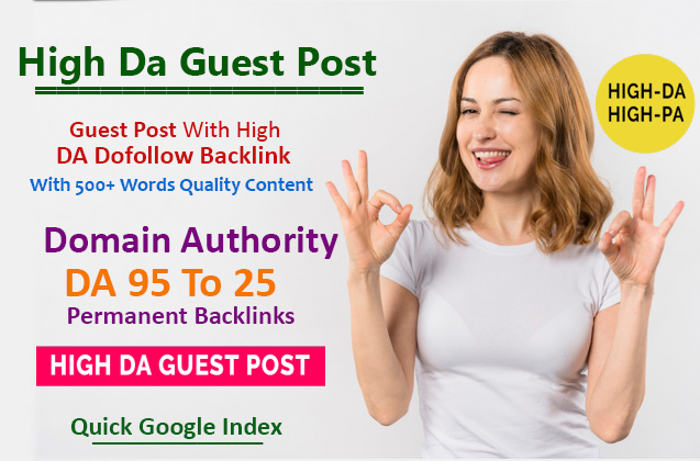 I will write and published Your High Da Guest Post at 93 DA site