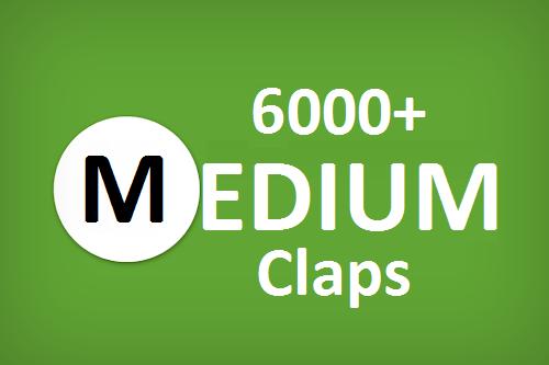 Get you best 6000+ Medium Claps on your Medium Article medium