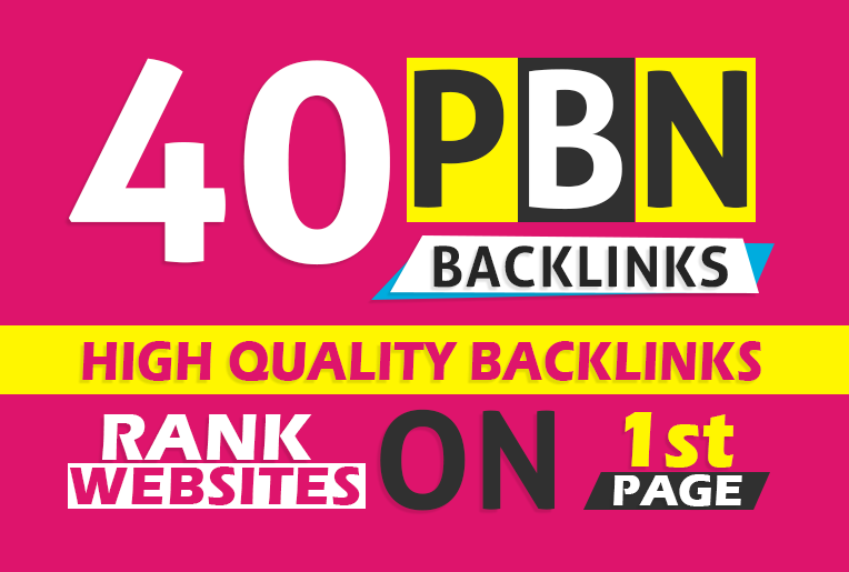 Get 40 permanent DA 40-25 PBN Backlinks