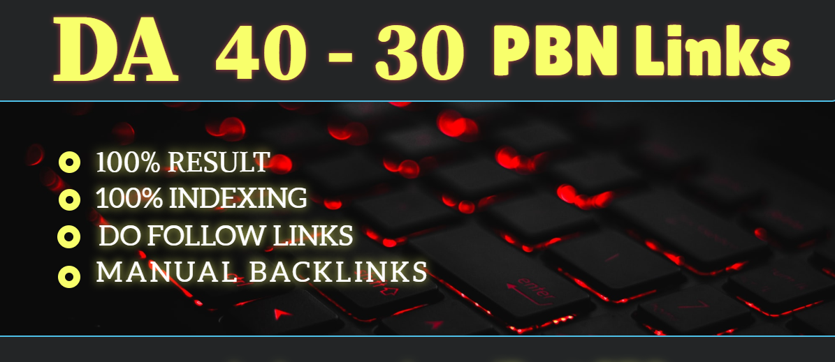 Provide you 6 high DA 30-40 PBN links