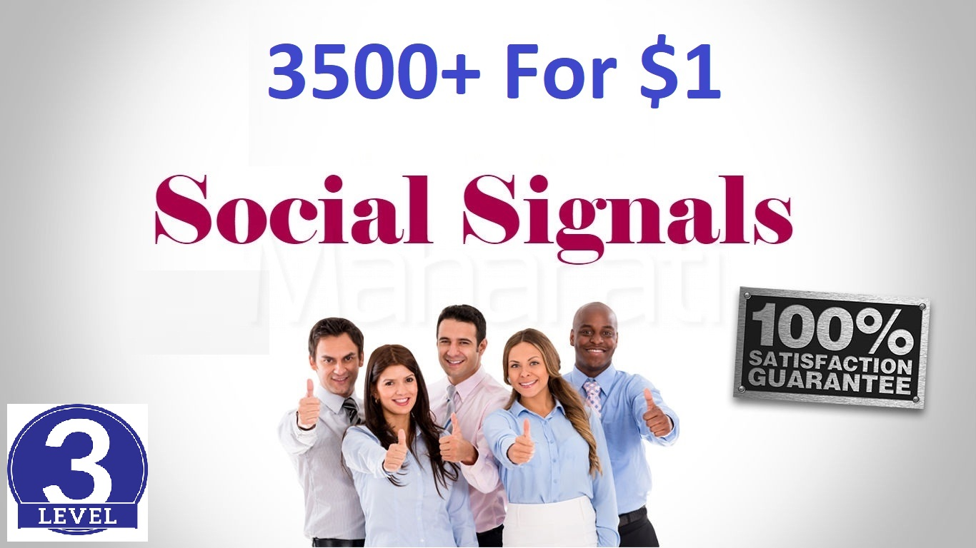 Top 5 Sites 3500+ Social Signals To Boost Your Site Rank & SEO