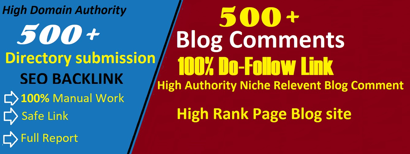 I will create 500 Directory Submission and 500 Blog comment