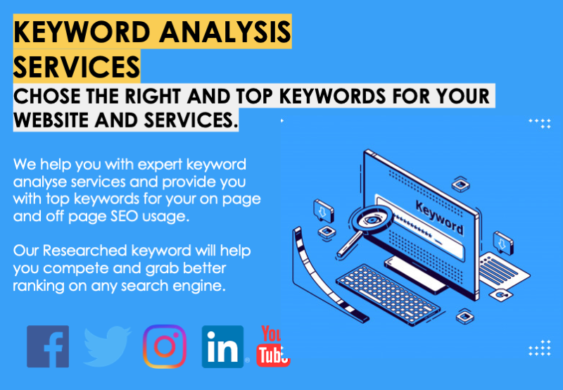 Keyword Analysis Services Chose the right and top keywords