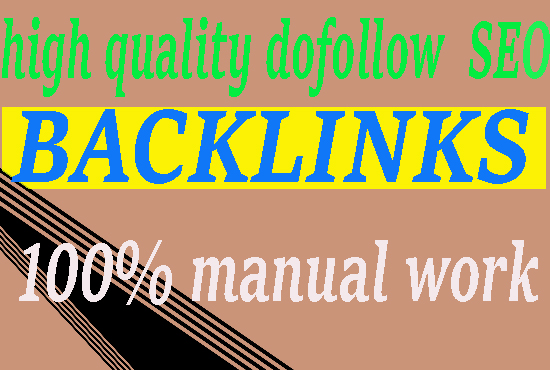 manually create 50 High DA Powerful SEO Backlinks