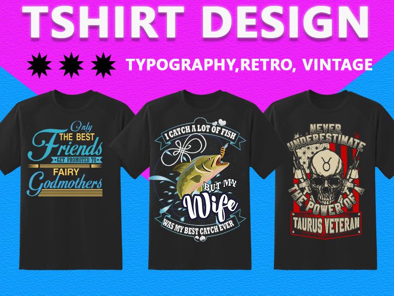 I will do amazing custom t shirt design