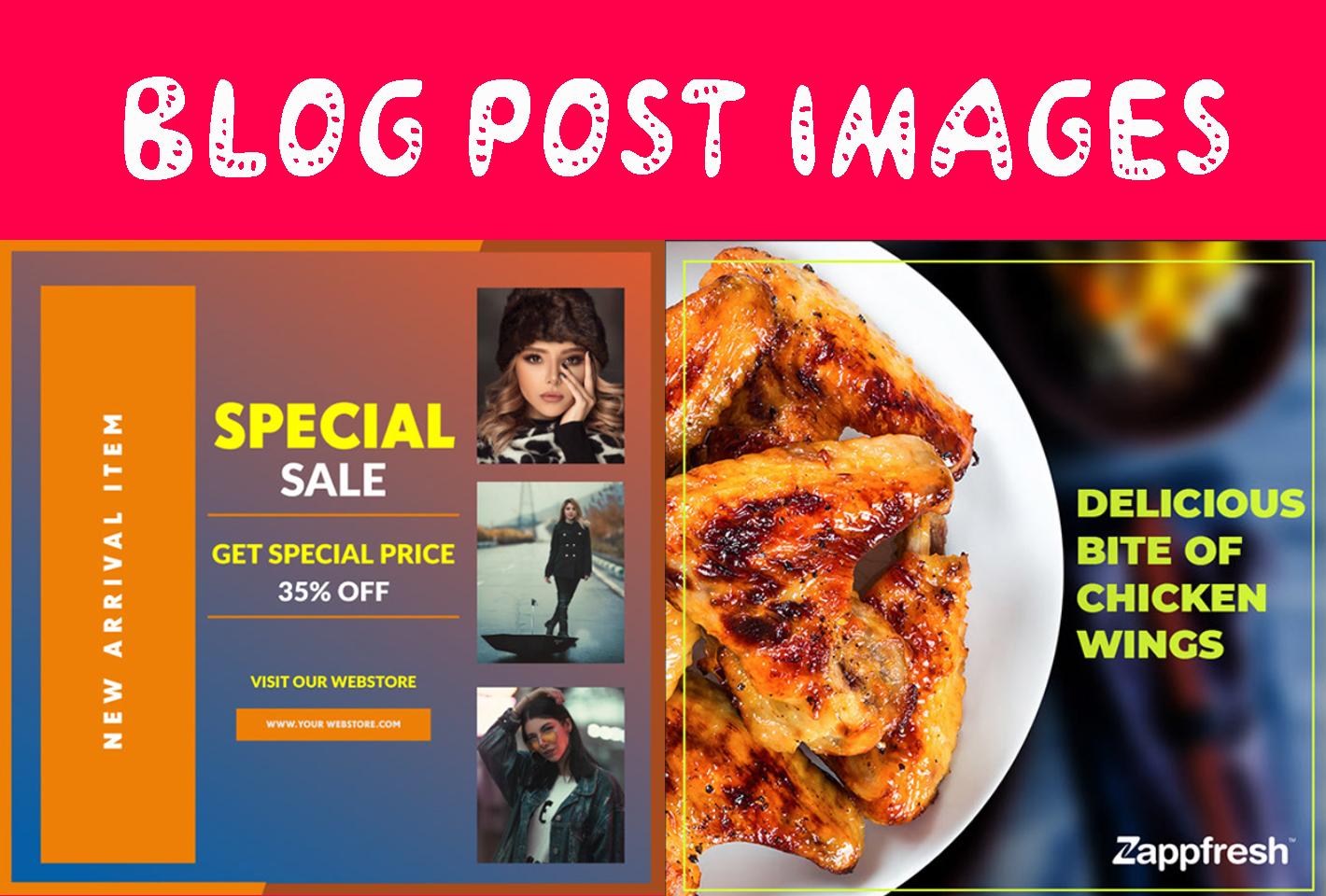 I will do design amazing blog post image