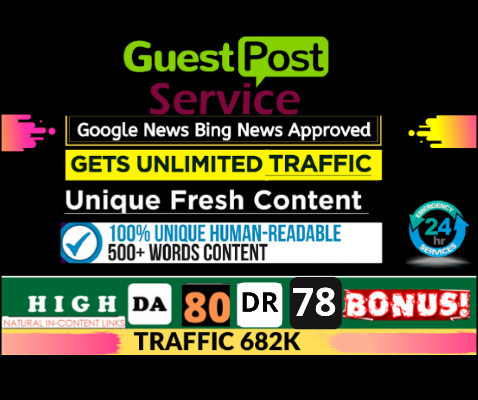 i will write and publish guest post on DA80 Google news website