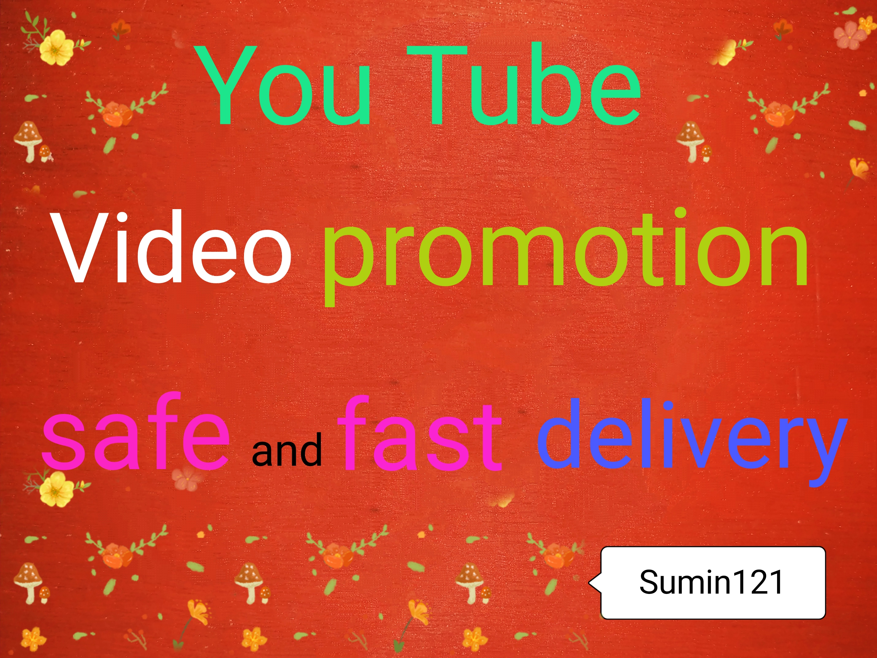 Active non drop youtube high quality video promotion and instant super market place