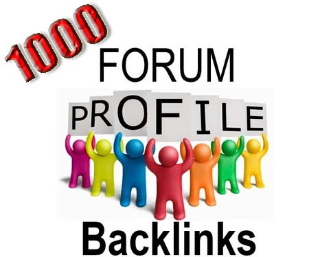 Create 1000 Forum Profile Backlinks Manually For Website SEO
