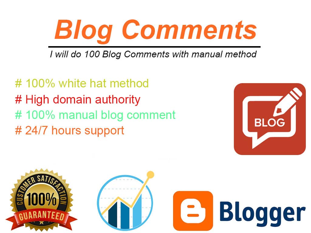 I will Do 100 Blog comment Backlink with manual method