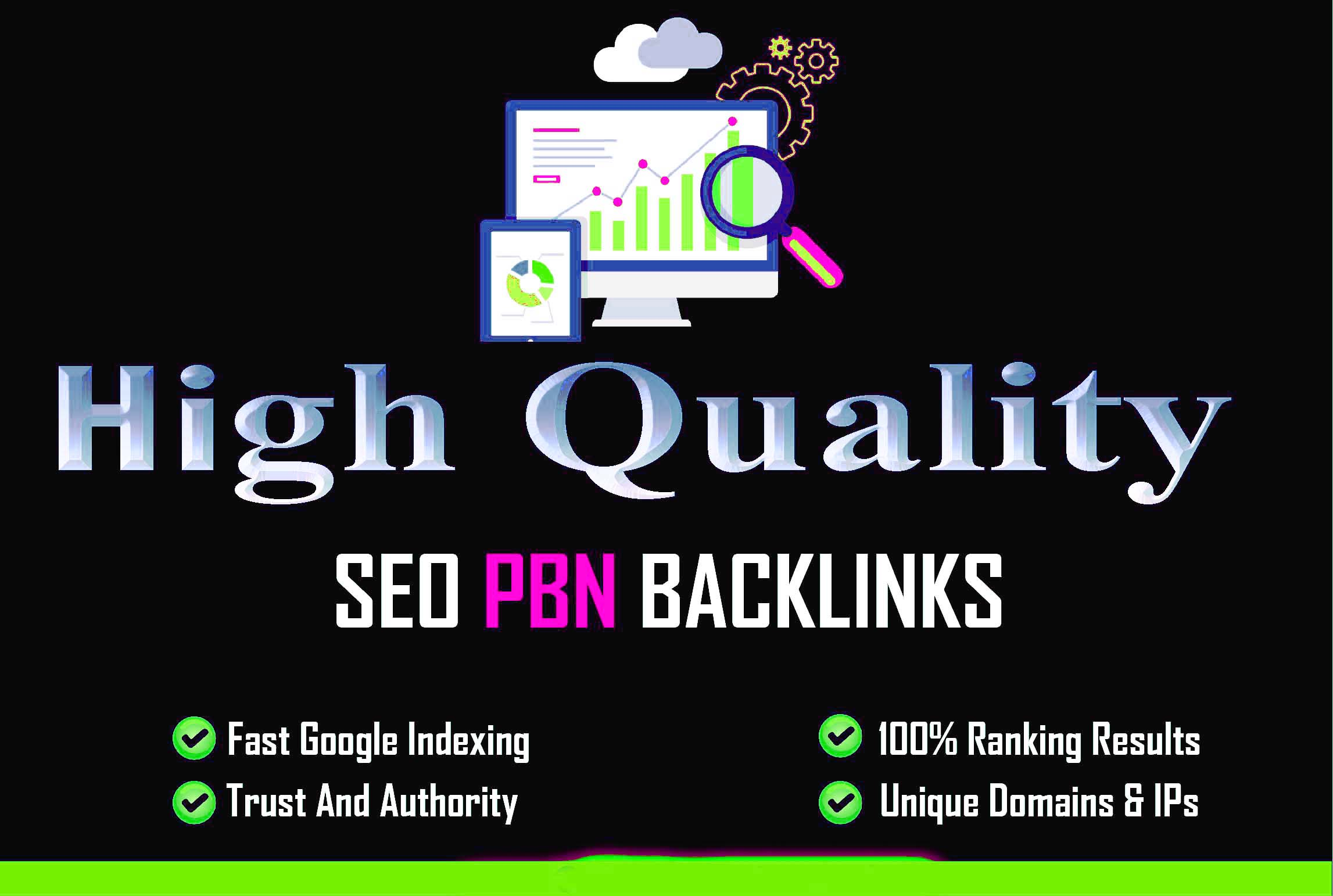 I will build 300 premium pbn SEO backlinks,  for your website