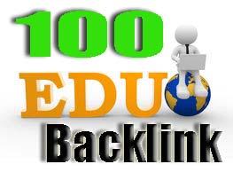 Build 100 HQ .EDU backlinks and rank higher on Google.