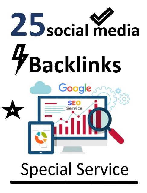 I will Create 25 social media profile backlinks with high DA PA 80+ For Google SEO