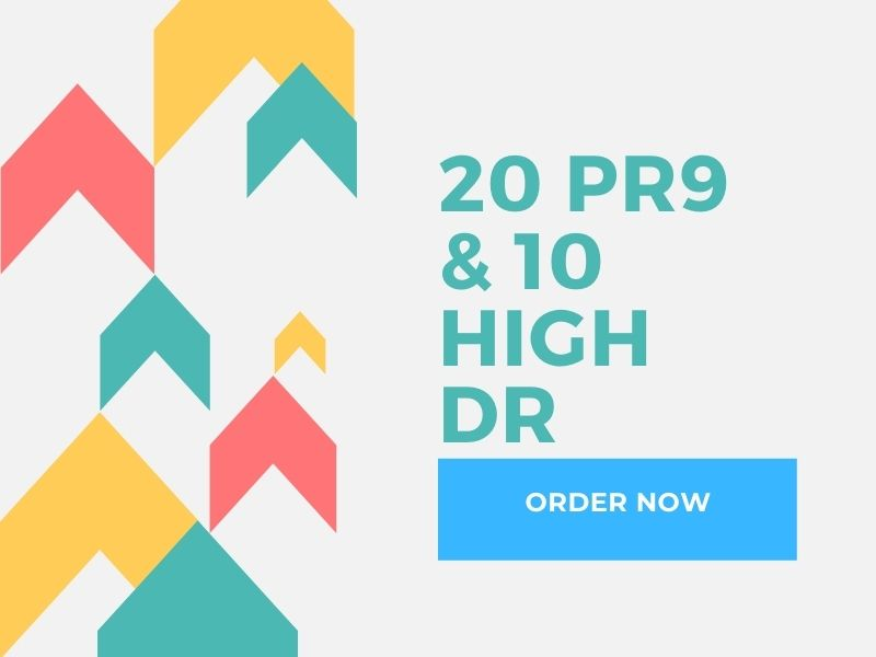 I will create 20 pr9 and 10 high dr total 30 backlinks for high level rank