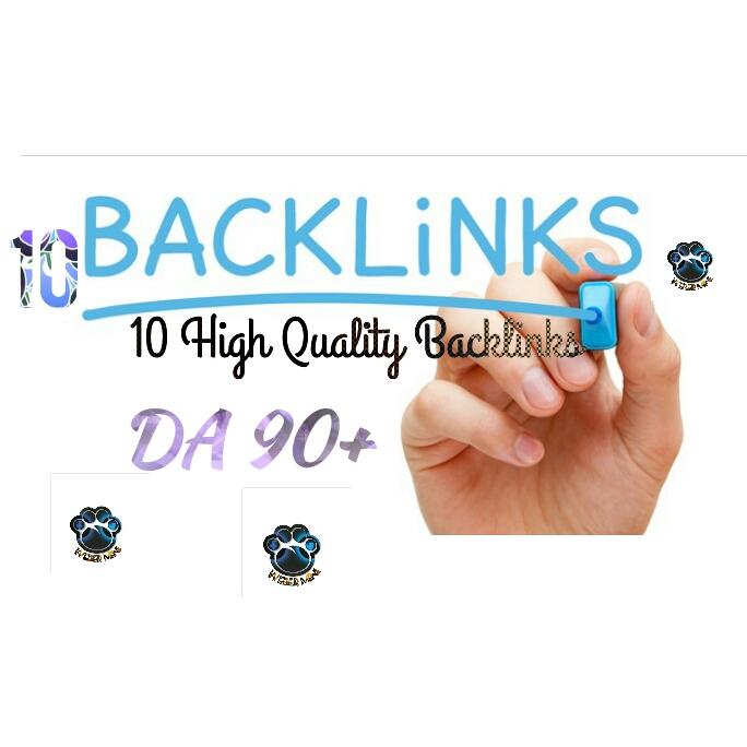 I will make DR 80+ & DA 80 + to 10 high quality dofollow backlinks for Google Rank