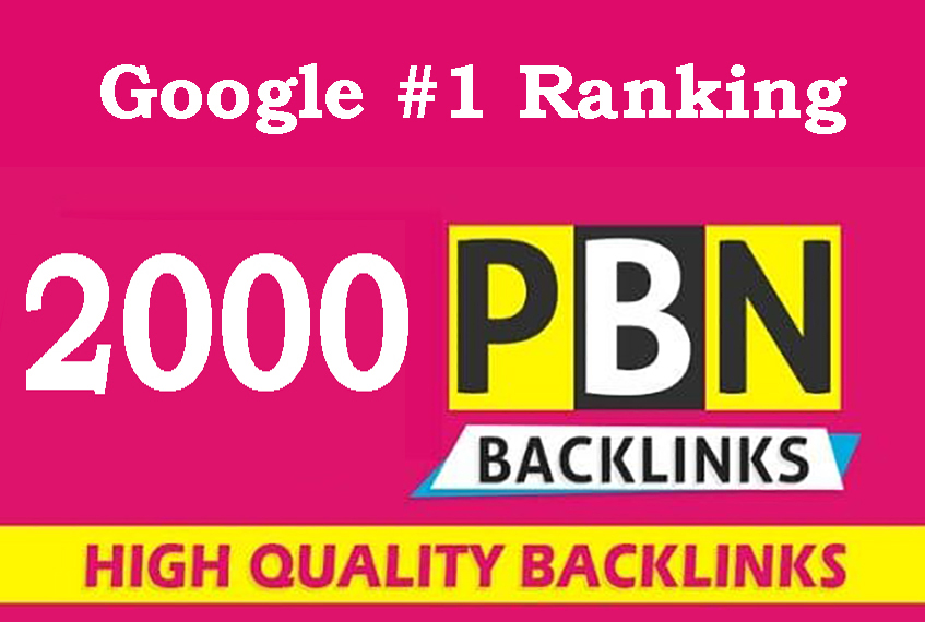 2000 Powerful PBN Backlinks on High DA PA