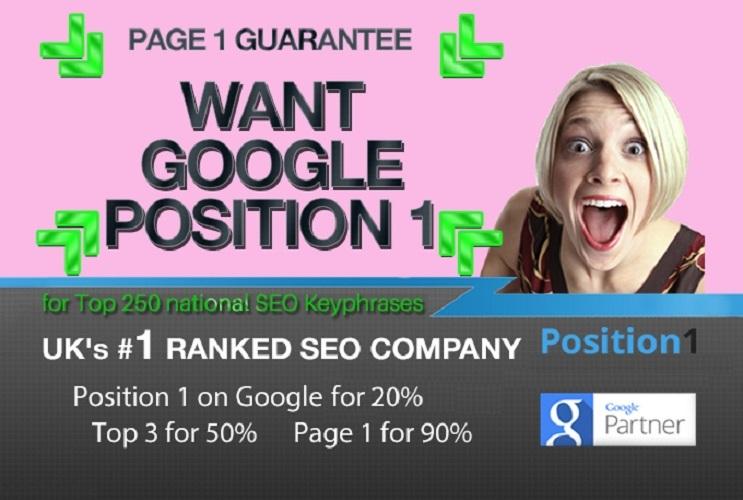 2020 SEO - Google Page 1 Guarantee