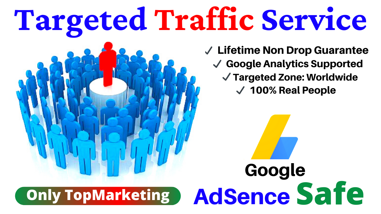 3k/5k Google Adsense Safe any Country Targeted & worldwide Traffic,  Visitor to Your Web or Blog Site