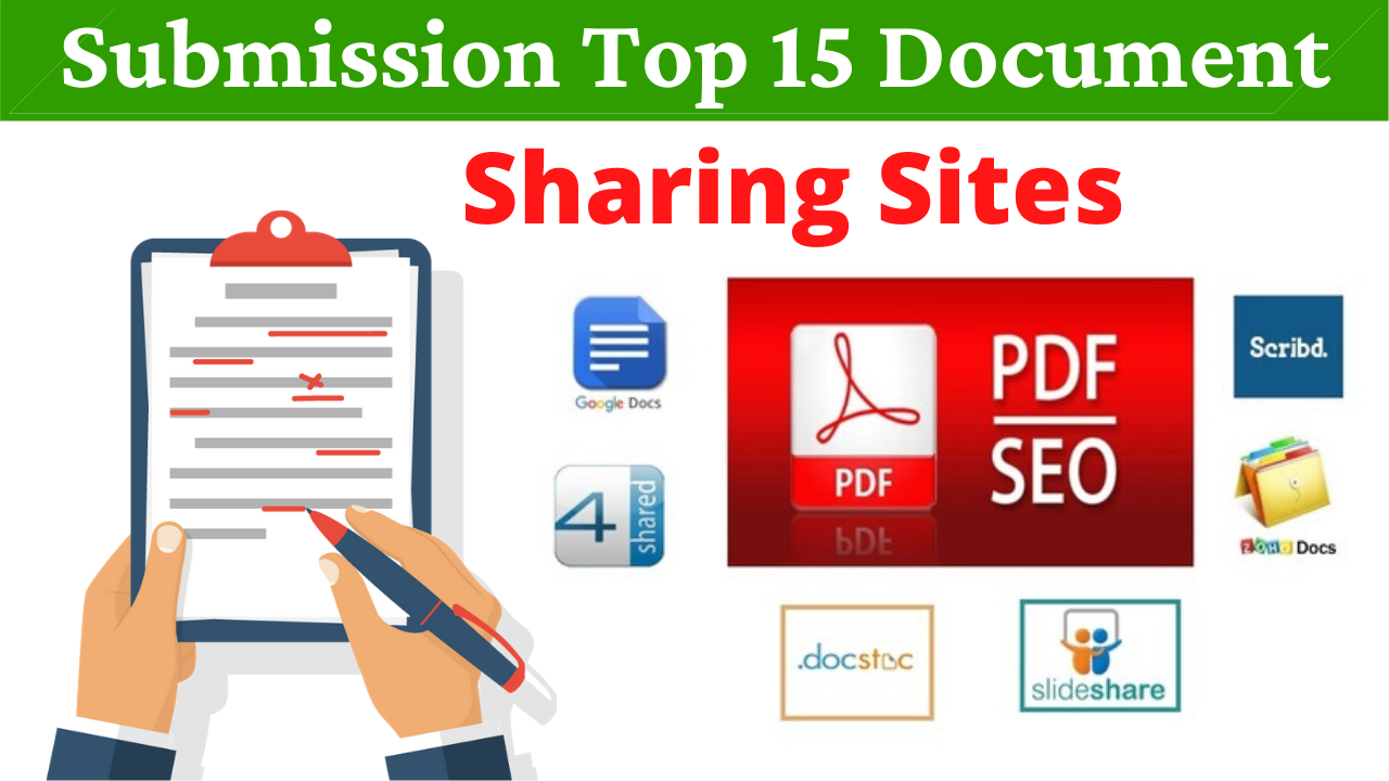 15 Manual PDF Submission on Top Document Sharing Sites With 4shared Scribd Docstoc Slideshare Etc