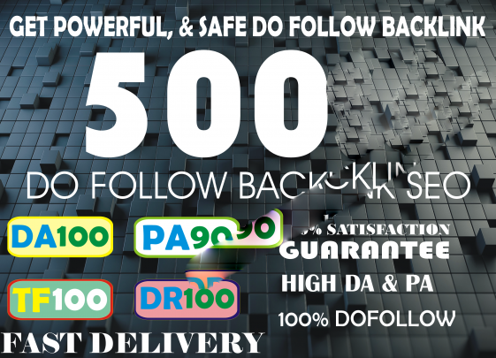 I will build 500 high authority dofollow backlinks best SEO