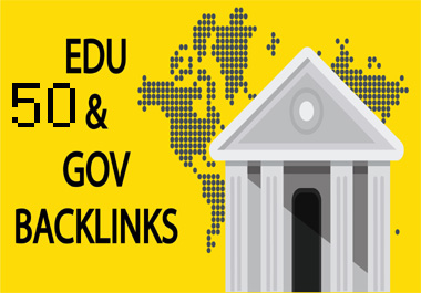 Create 50 Edu & Gov Backlink For Website