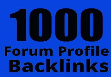 I will do 1000 forum profile backlinks