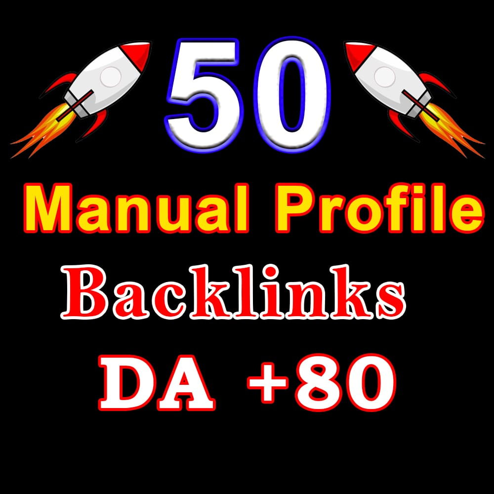 permanent 50 dofollow Profile Backlinks from high DA 60+ Websites manual work to improve your seo