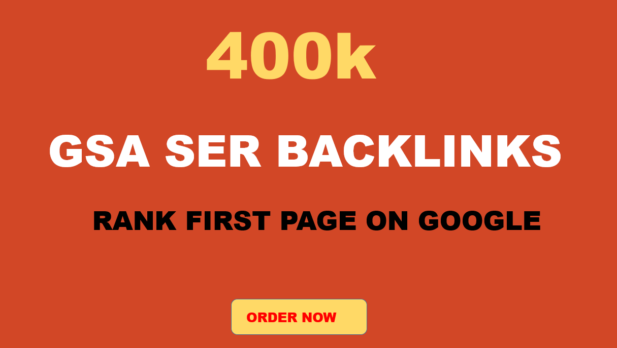 I will create Ninja SEO Service - 400k GSA SER High Authority dofollow Backlinks for Your Websites
