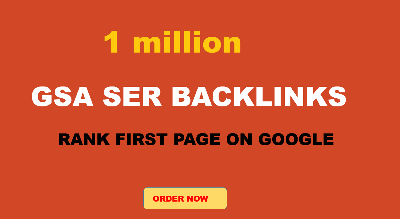 1 million GSA For Increase Link Juice and For Faster Index on Google,  Ultimate SEO Solution