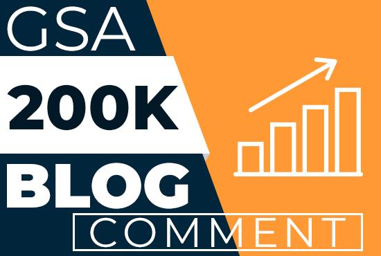 I will provide 200k Blog Comments Backlinks For Google Ranking