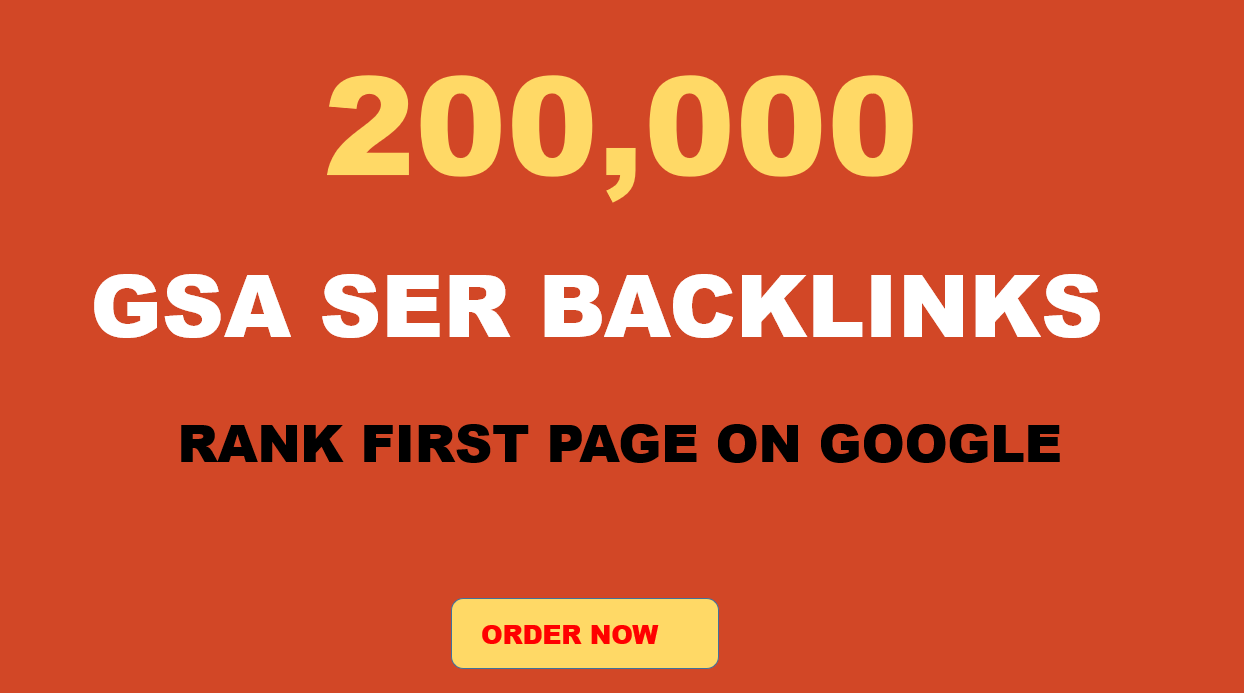 Special offer 2, 00,000 quality Verified GSA Backlinks for ranking your Website on Google Page