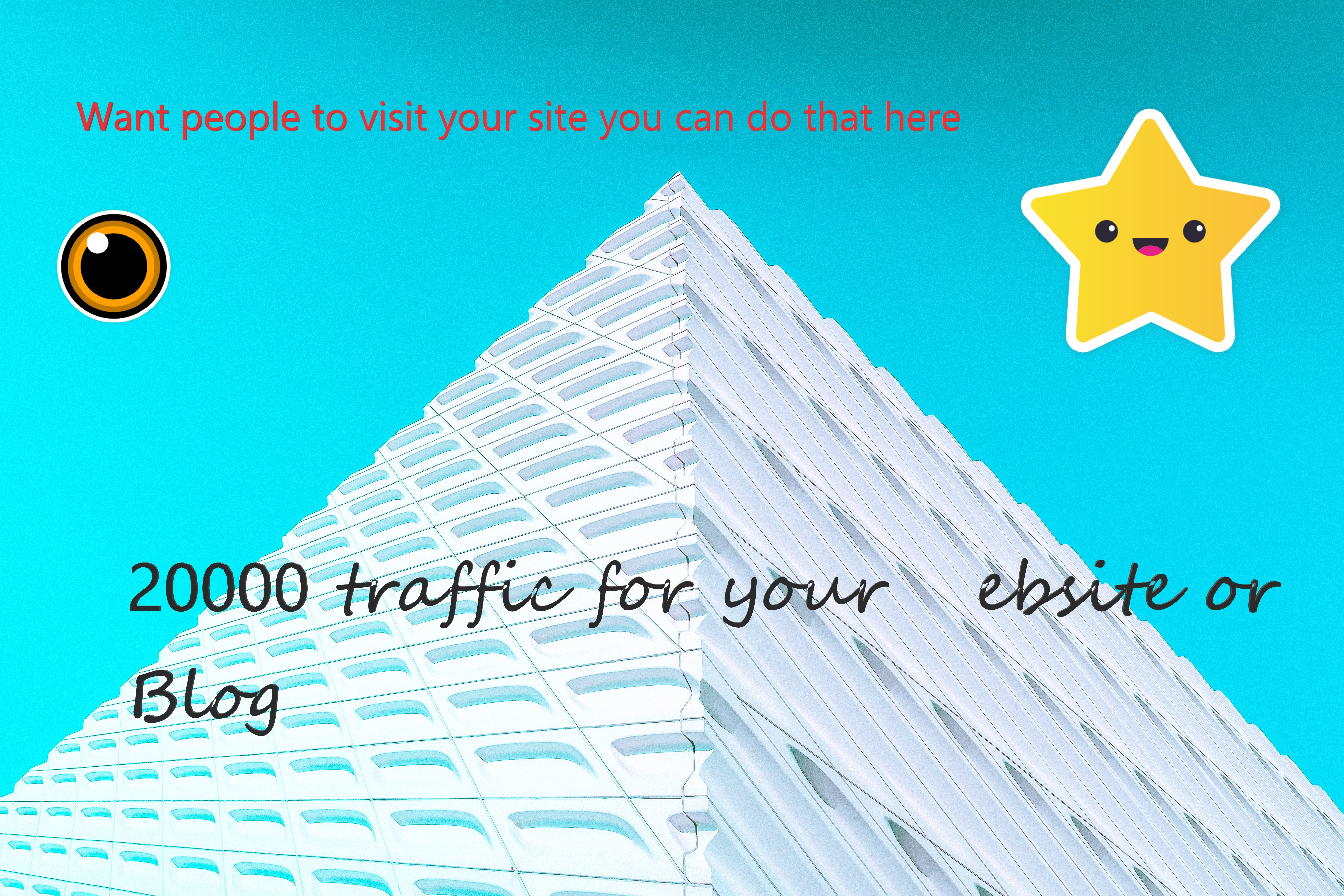 Real Organic Traffic 20.000 Through Social Media and Google To your Website