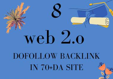 i will creat 8 WEB 2.0 blogs backlink in 70 +DA site