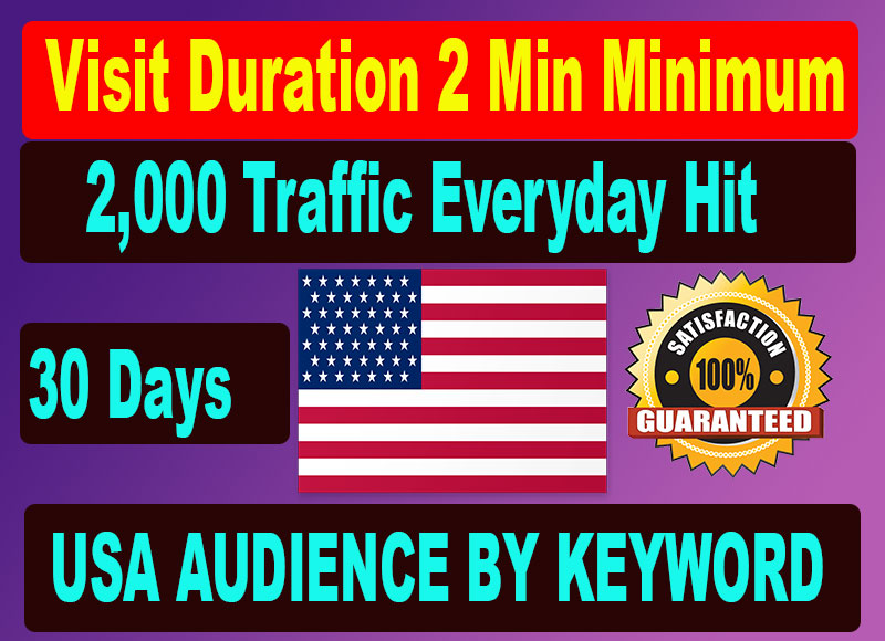 Bring organic web Traffic from search engine and targeted any country