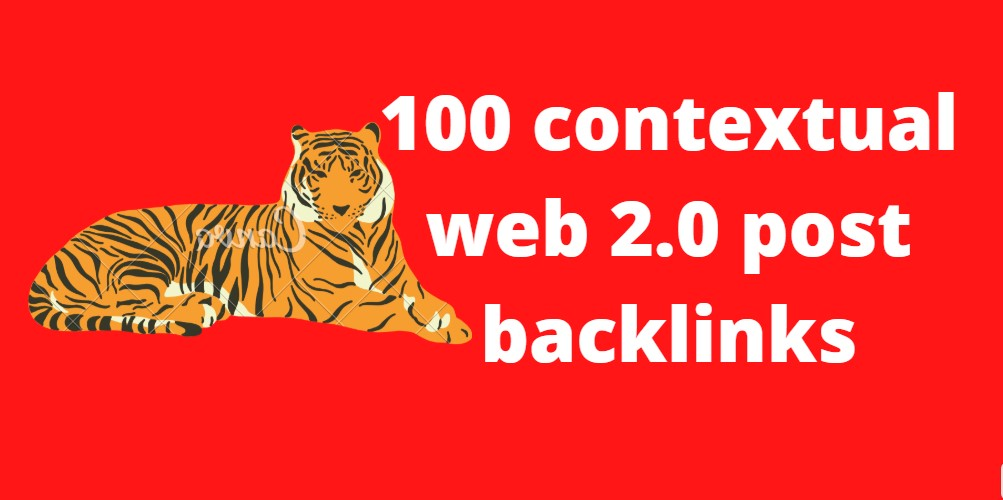 I will do 100 contextual super web 2.0 post backlinks for your website