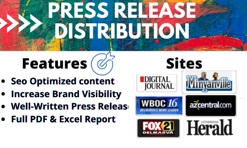 I will do press release distribution on 200+ news platforms