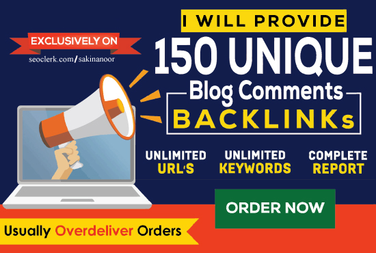 I will manually create 150 high authority dofollow blog comment backlinks for seo