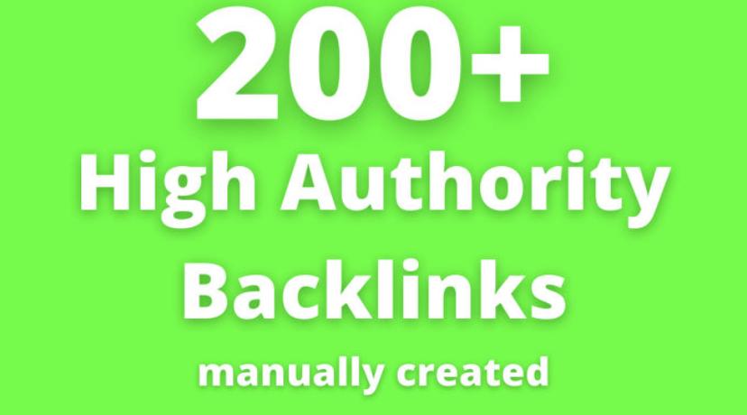 200 plus high authority backlinks.