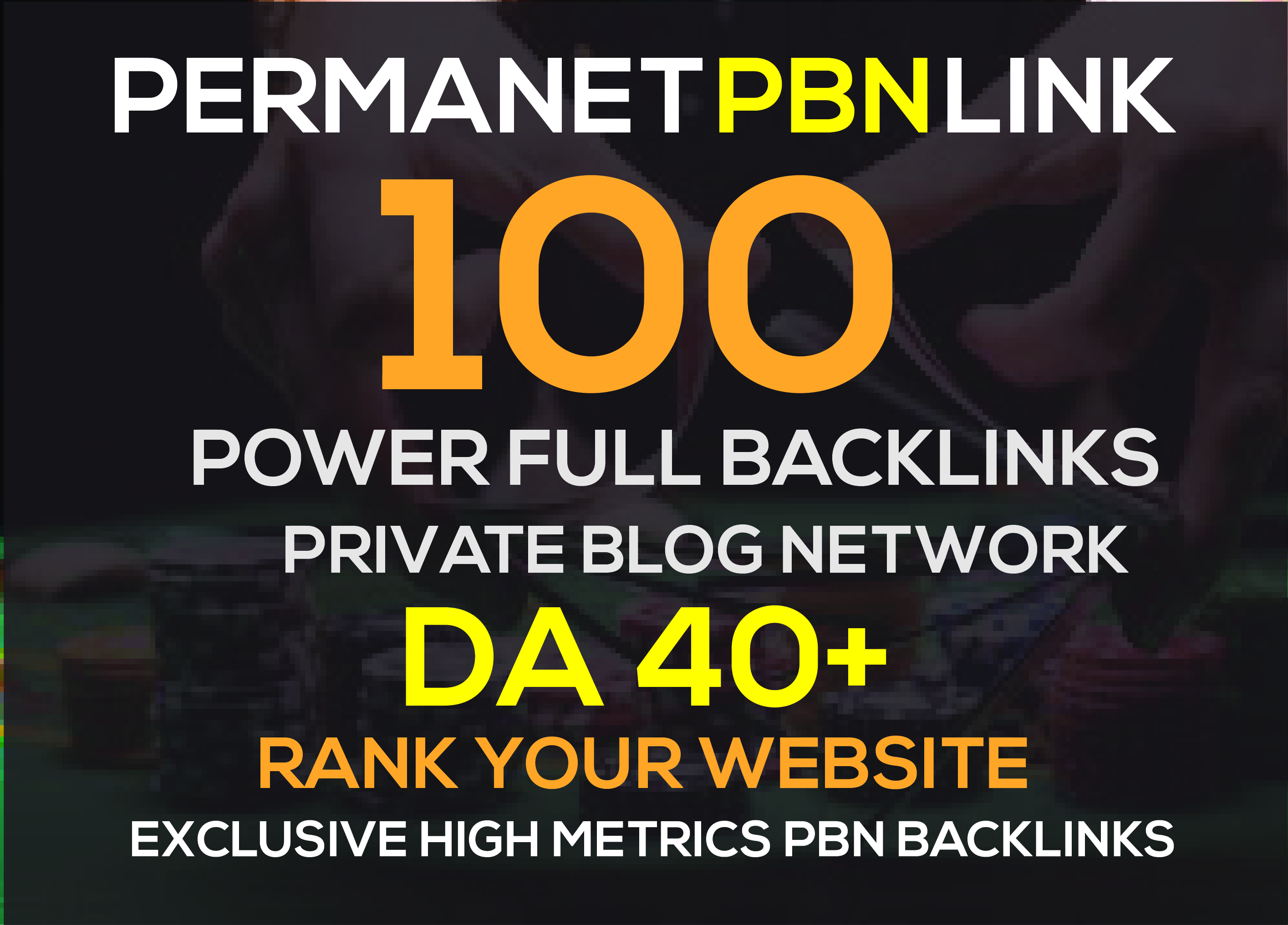 Build 100 High DA40+ HomePage PBN Backlinks - Dofollow Quality Links