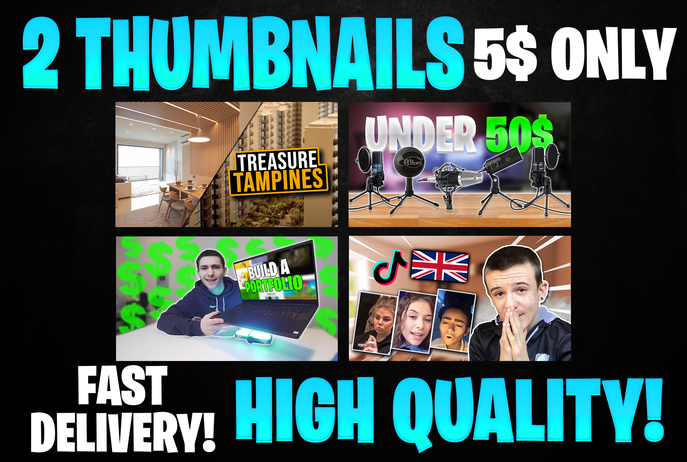 I Will Design Best And Attractive Youtube Thumbnail