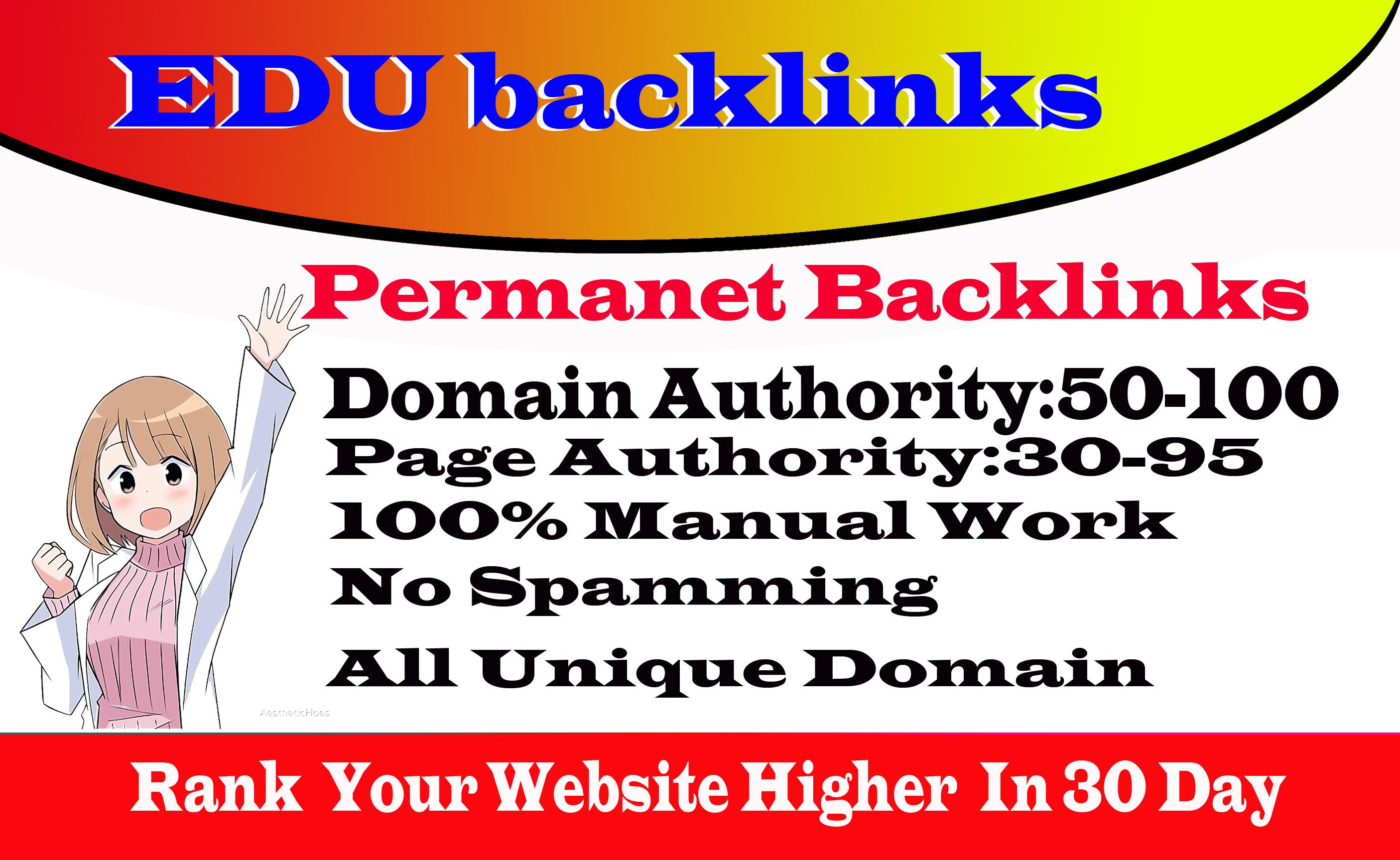 I Will Create 10 HQ SEO Edu Link Building From DA70+ Domains