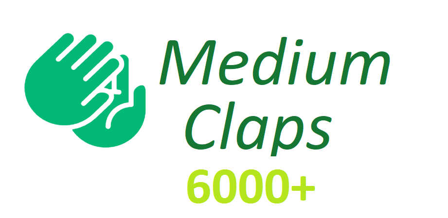 Give You Real 6000+Medium claps to your Article medium for