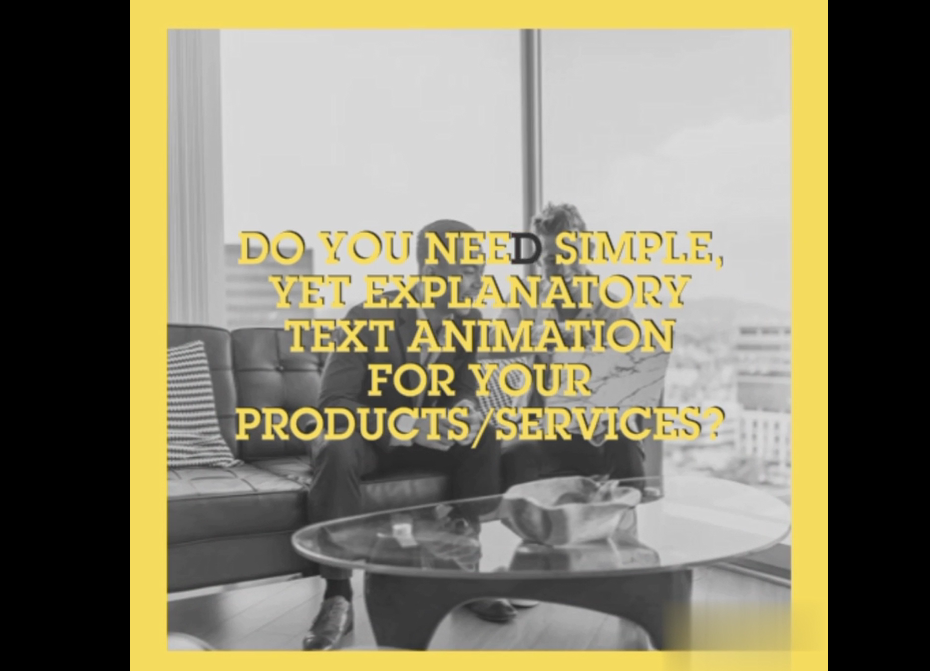 I will create a 30-45 second introductory text animation