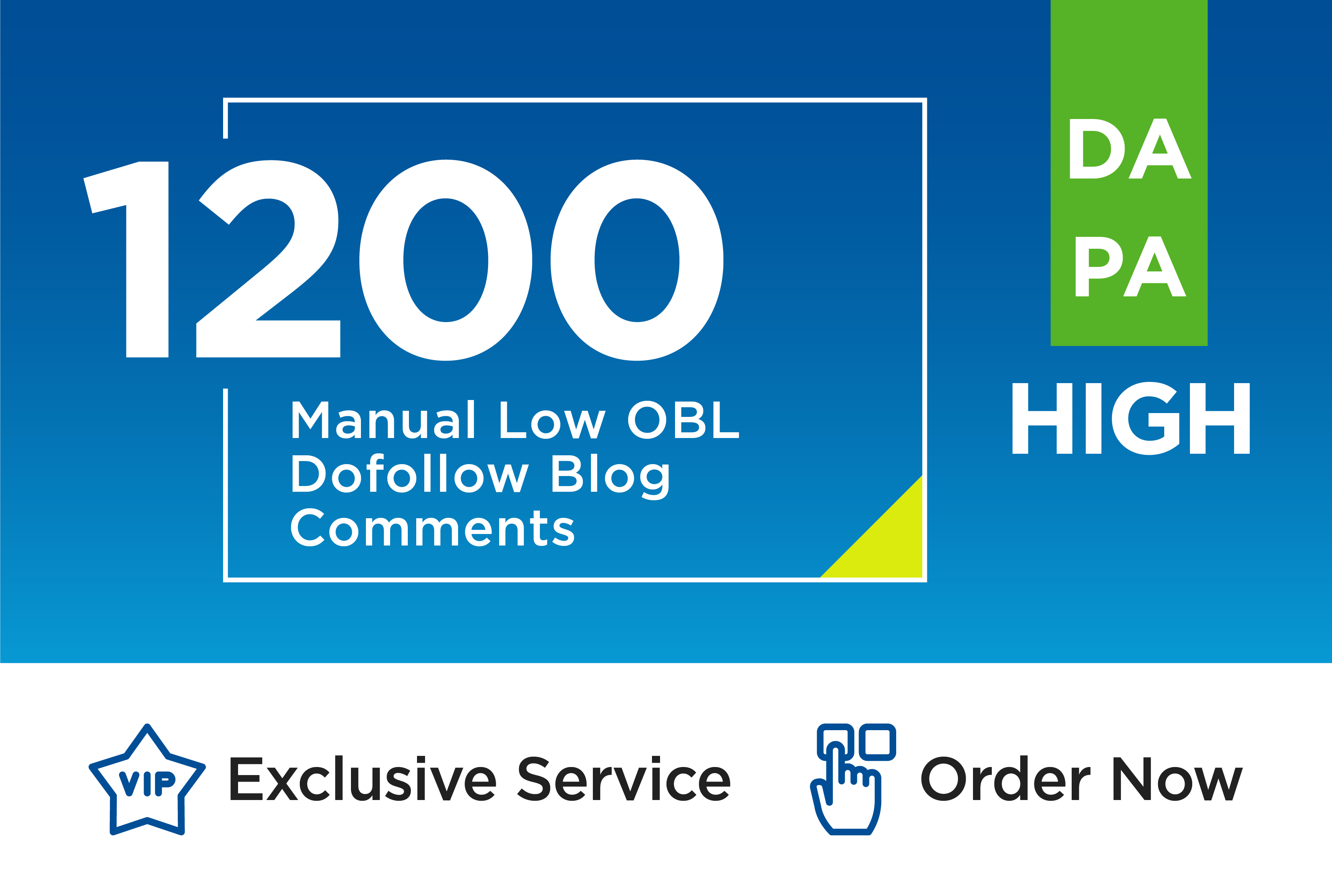 Create Manually 1200 high quality dofollow unique domain backlinks high da pa