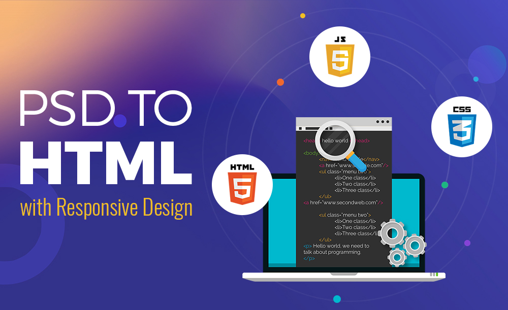 I will convert your PSD files to responsive HTML Bootstrap