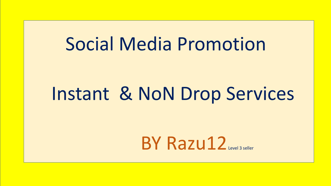 Social Media Promotion Instant and Non drop