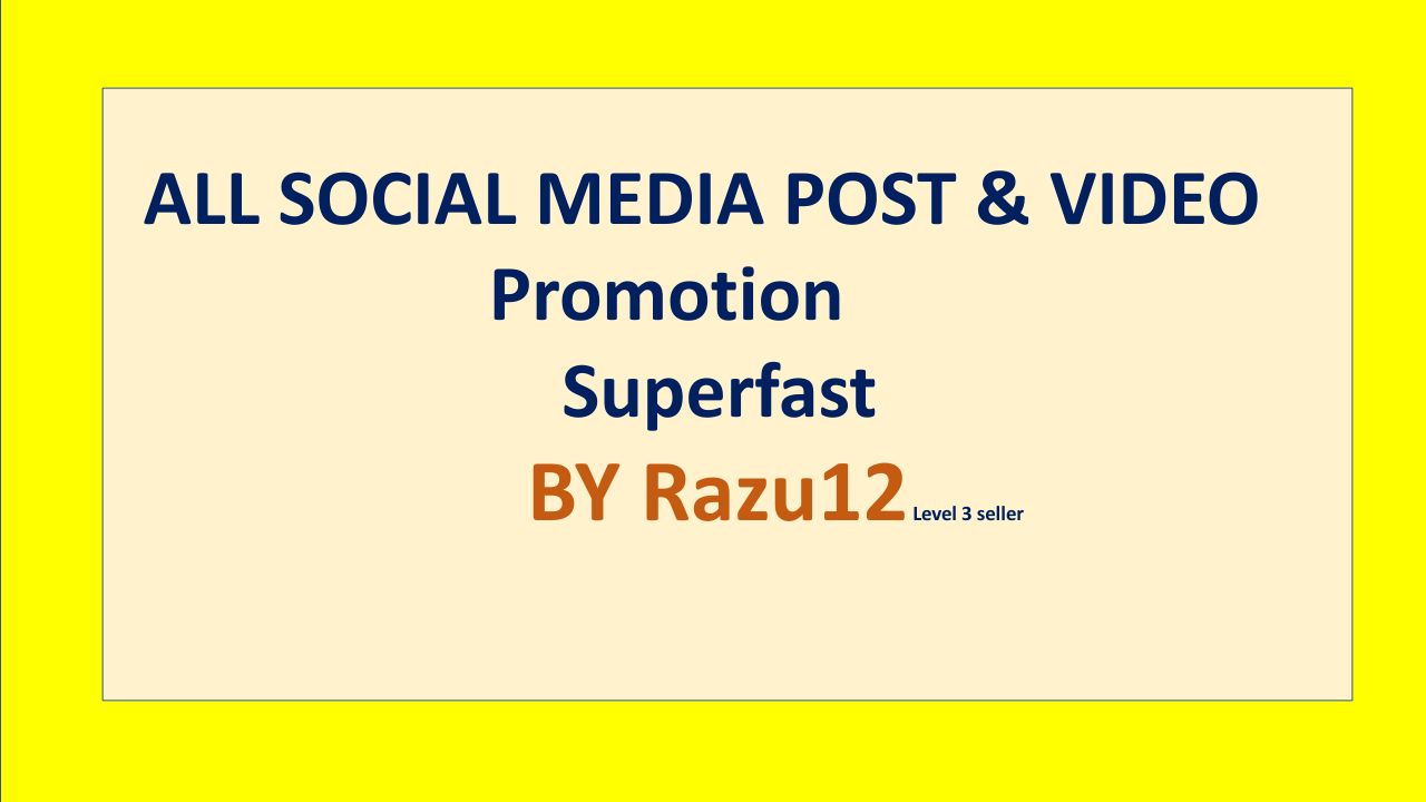 Social Media Promotion Instant start & Real Account services by Razu12